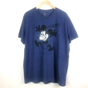 Disney Blue Mickey Mouse Graphic Tee